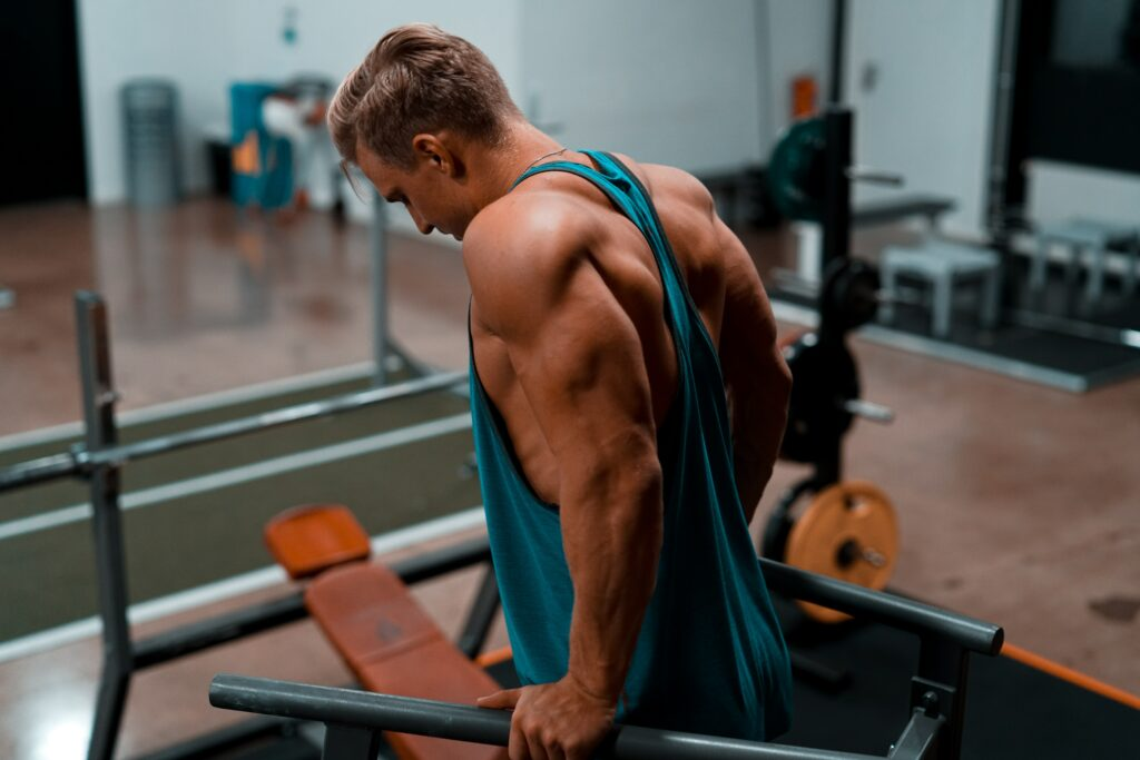 10 exercises for muscles-TRICEPS DIPS