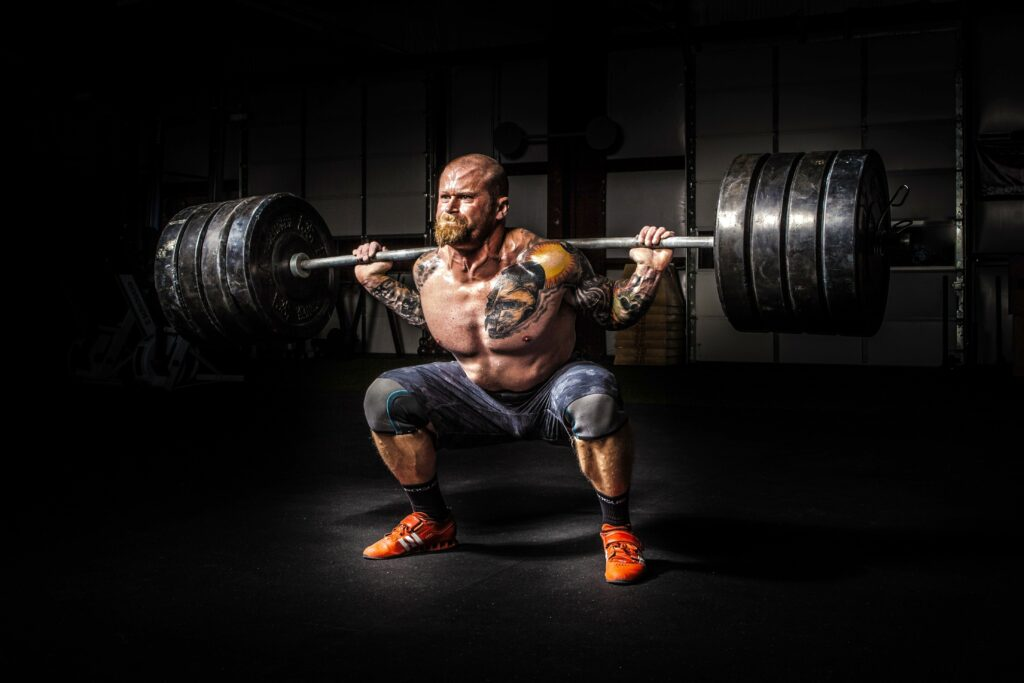 10 exercises for muscles-WEIGHTED SQUATS