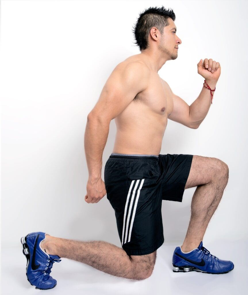 Lunges exercises at home
