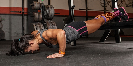 Decline push-ups exercises at home